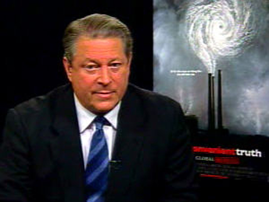 Excellent! Al Gore en croisade contre le réchauffement climatique