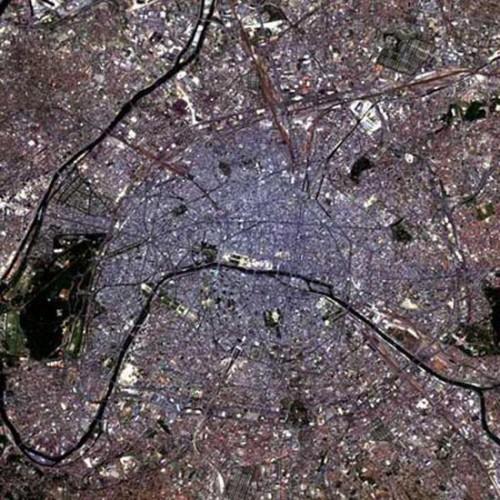 Photo satellite de Paris