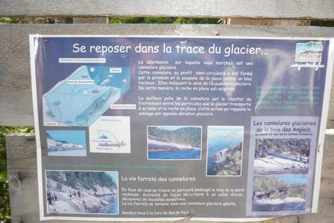 se reposer dans la trace du glacier
