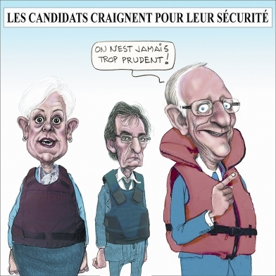 Les candidats craignet pour leur sécurité