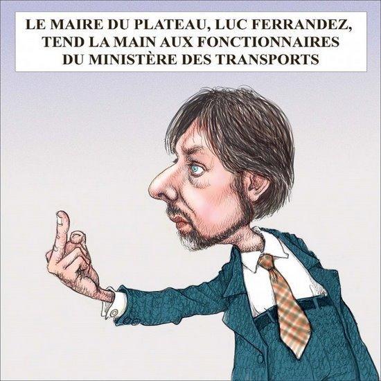 caricature de Luc Ferrandez vs le MTQ
