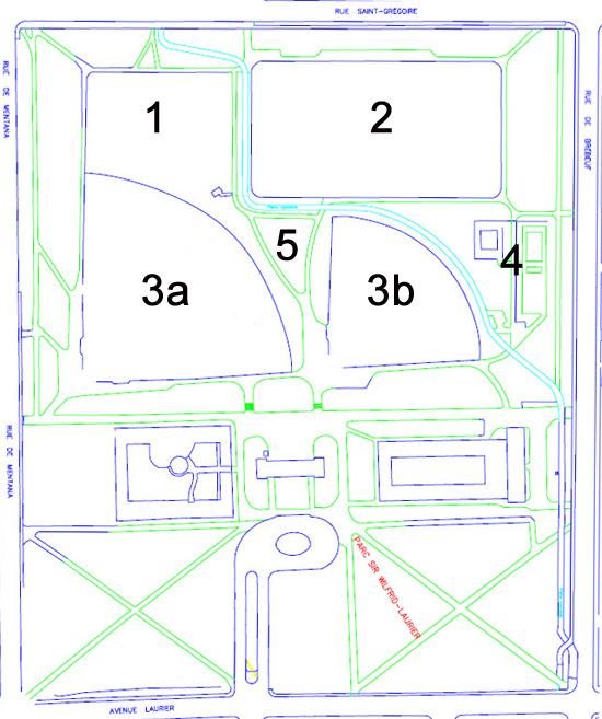 Le plan du parc Laurier