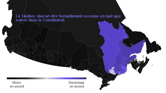 Le Québec devrait être formellement reconnu en tant que  nation dans la Constitution