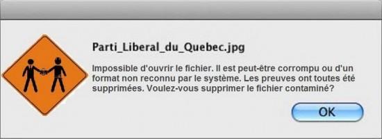 corruption du parti libéral
