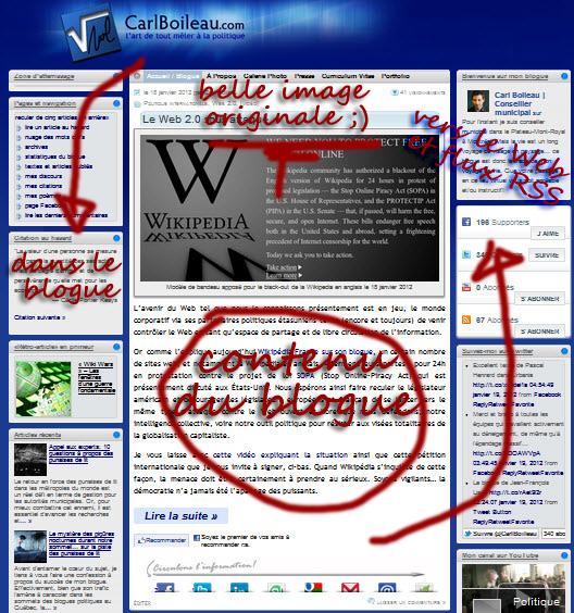 concept «portail» de mon blogue