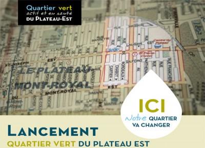 plan de quartier vert dans le district de DeLorimier
