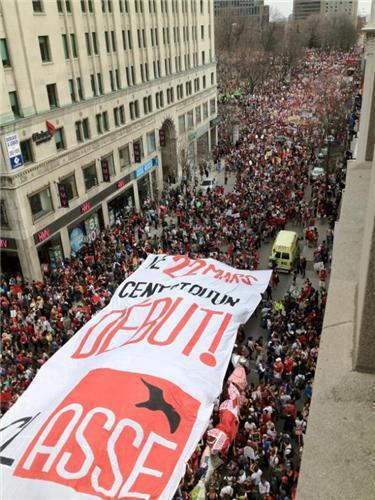 Manifestation étudiante du 22 mars 2012