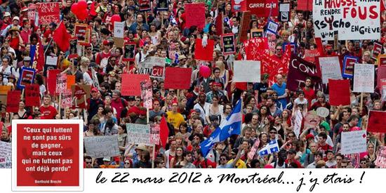 22 mars 2012 à Montréal: Le printemps Érable