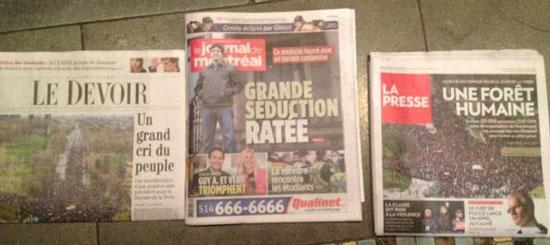 Quebecor élide le Jour de la Terre