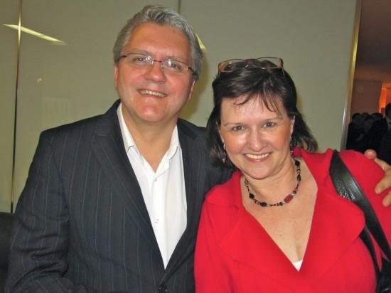 Richard Martineau et Johanne Marcotte durant un party de L'Institut économique de Montréal