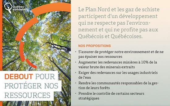 Debout pour nos ressources naturelles