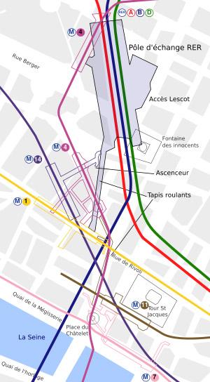 Complexe souterrain de la station Chatelet