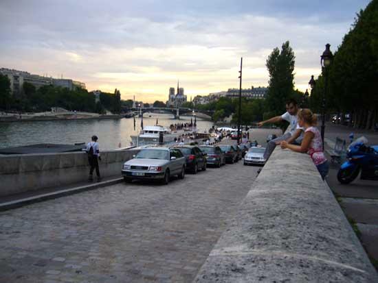 cours de roller au bord de la Seine
