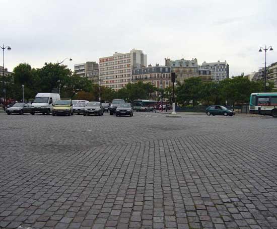 trafic à la Place de la Bastille
